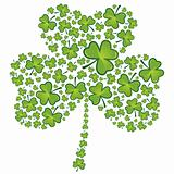 St Patrick&#39;s day shamrock pattern