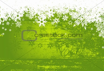 Abstract background with snowflakes. Vector