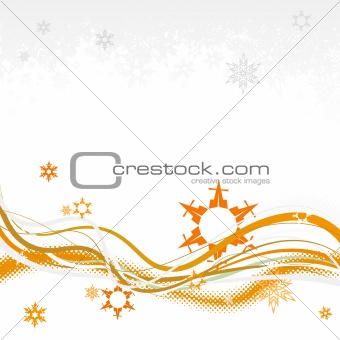 Abstract background with snowflakes. Also available as vector.