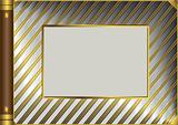 Silvery and golden vintage photo album cover (vector)
