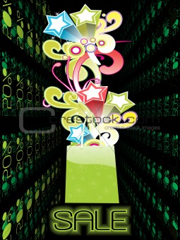 50% off sale, shopping vector