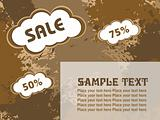 75% and 50% discount banner vector