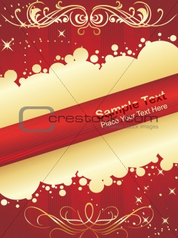 abstract background of christmas ornamented, vector