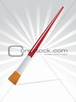 flate edge paint brush, vector illustration