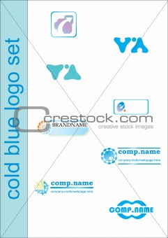 blue logo set
