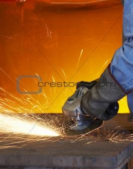 grinding orange