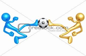 Soccer Football Dueling Kick