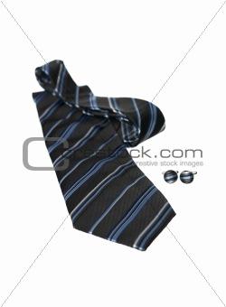 Black nad blue tie