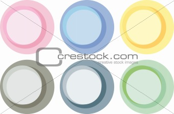 Abstract pastel color circle labels