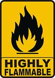 Highly Flamable Color Sign