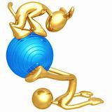 Yoga Pilates Physio Ball With Dog