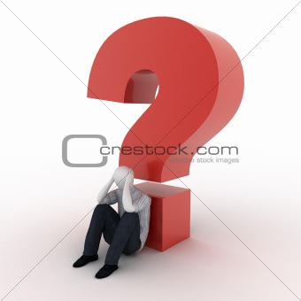 3d human with question