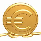 Holding Gold Euro Coin