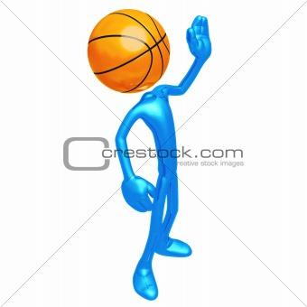 Basketball Waving Hi