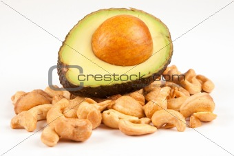 Avocado and Cashew nuts