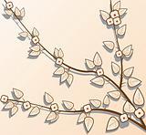 Sakura branch in vector