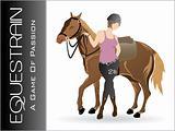 vector silhouette equestrian sport; illustration