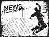 vintage frame of news paper background