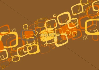Abstract brown illustration. Vector