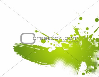 Abstract green illustration. Vector