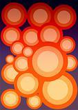 Circular abstract background