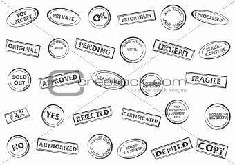 Stamp marks set
