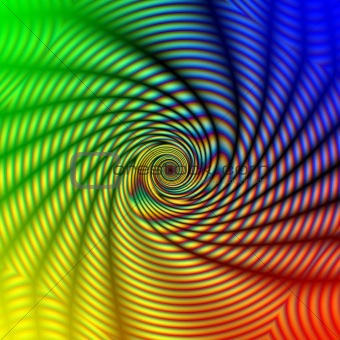 abstract rainbow concentric spiral