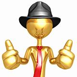 Businessman Two Thumbs Up