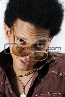 African man posing