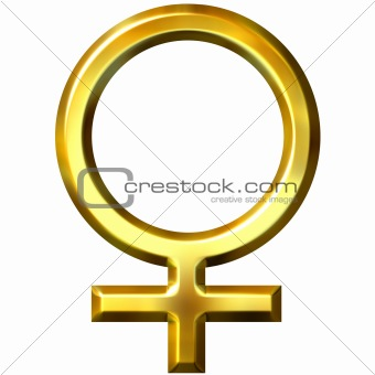 3D Golden Female Symbol