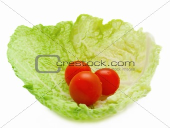 tomatoes in cabbage