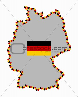 Image Map Of Germany With Easter Eggs And Flag From - Germany map shape