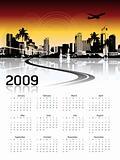 Cityscape background, calendar