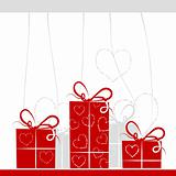 Gift boxes background for your design