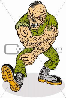 Skull-faced army dude