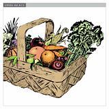 Vintage 1950s Harvest Basket
