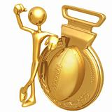 Gold Medal Football Winner
