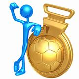 Gold Medal Soccer Football Winner