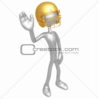 Football Player Waving