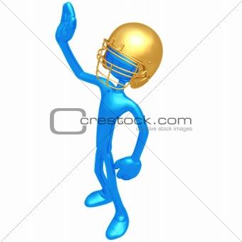 Football Player Waving