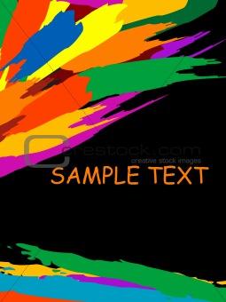 grunge colorful splashing, vector illustration