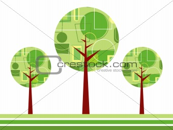 abstract vector treees