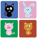 vector illustration of funny animals