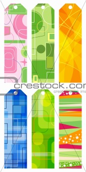 abstract retro bookmarks