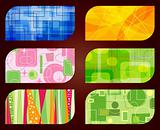 abstract retro business card backgrounds