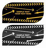 Black stylish business cards easily editable vector illustration