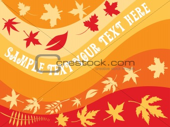 Abstract floral background with autumn leaves