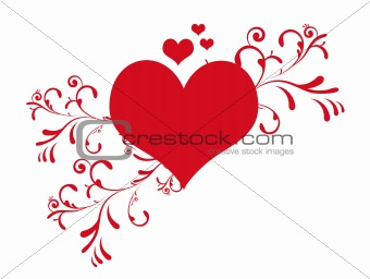 Cute valentine's day heart vector illustration