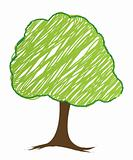 vector tree design, easily editable vector illustration