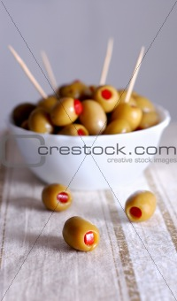 Olives, close-up